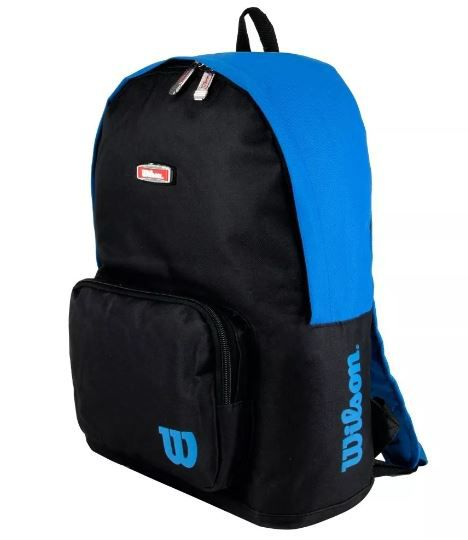 Mochila Wilson Esp wtix13551A - Preto e Azul  - REAL ESPORTE