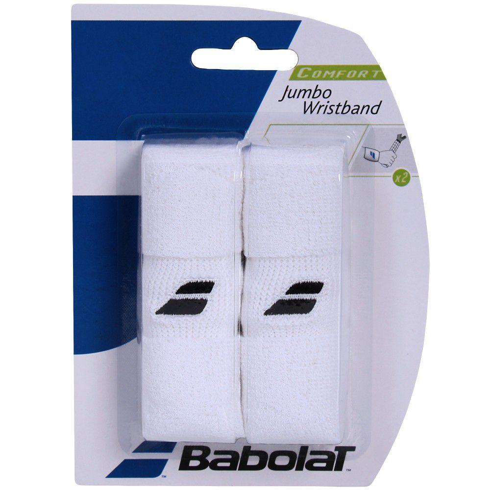 Munhequeira Babolat Jumbo Wristbond - Branco  - REAL ESPORTE
