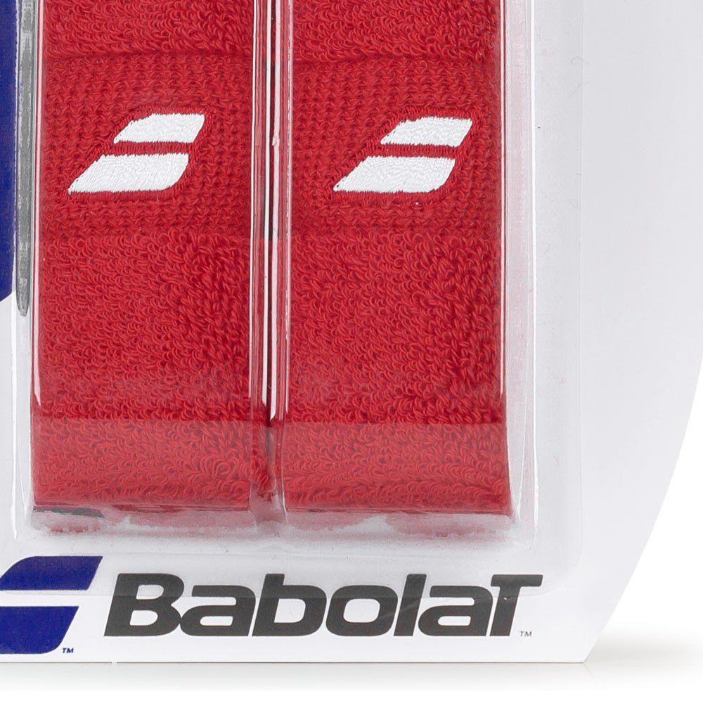 Munhequeira Babolat Jumbo Wristbond - Vermelha   - REAL ESPORTE