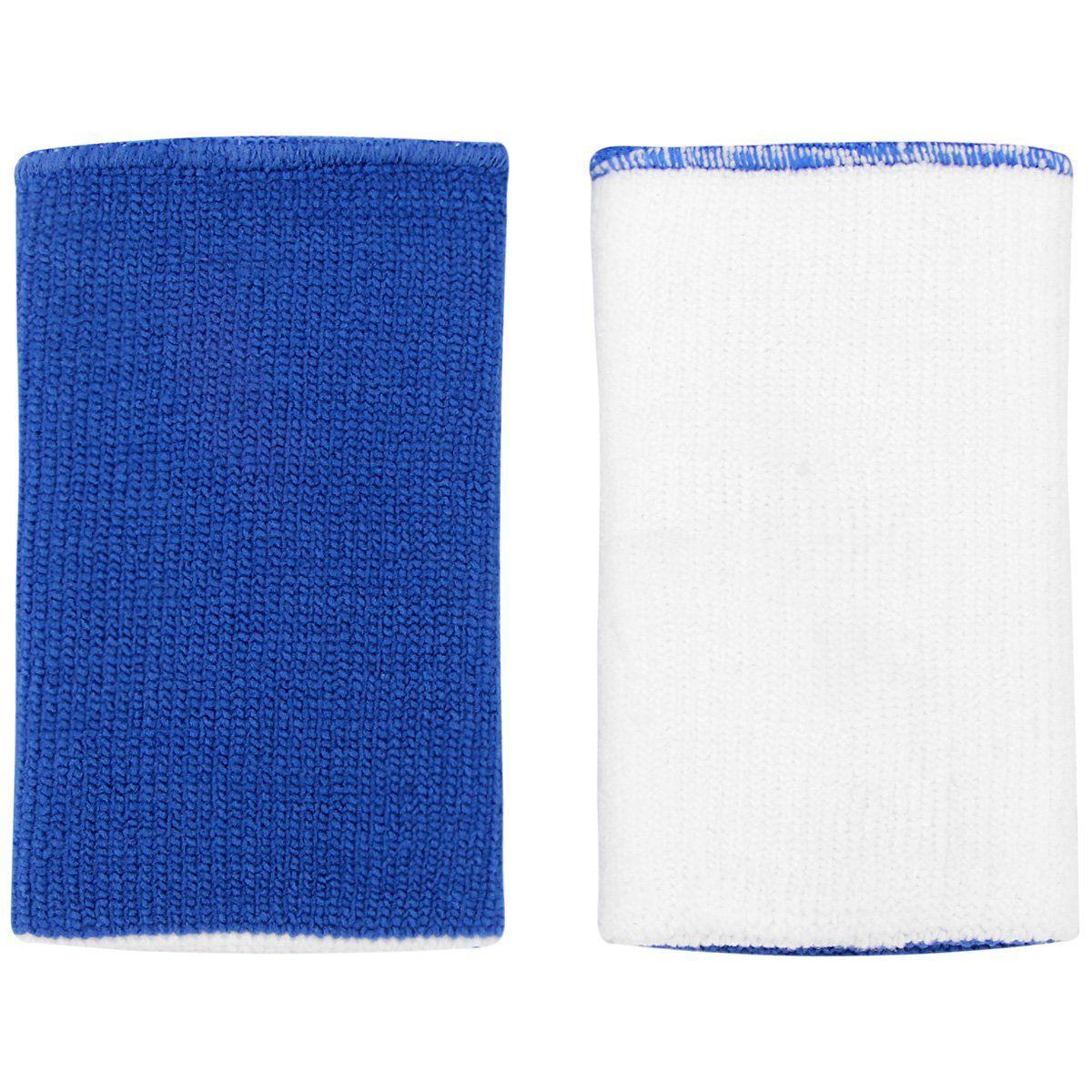 Munhequeira Nike Dupla Face Dri-Fit Home & Away - Azul e Branco  - REAL ESPORTE