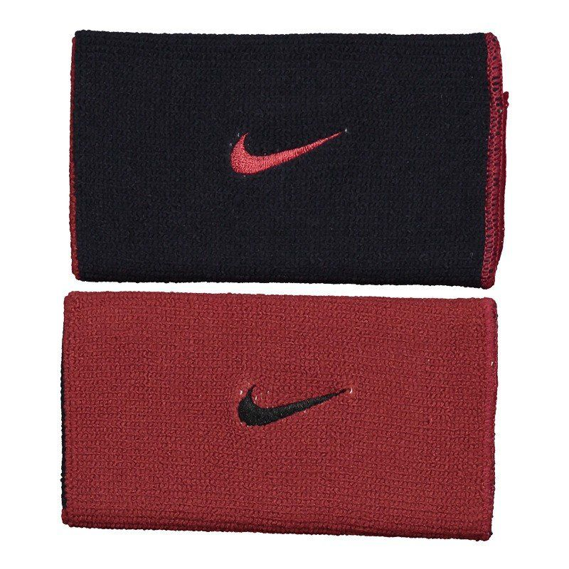 Munhequeira Nike Dupla Face Dri-Fit Home & Away - Preto e Vinho  - REAL ESPORTE