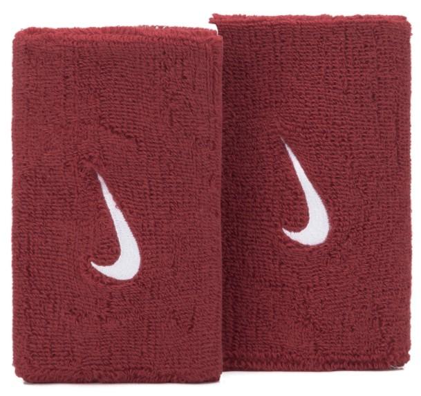 Munhequeira Nike Swoosh Wristbands - Vermelho  - REAL ESPORTE
