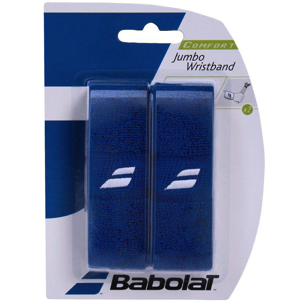 Munhequeira Babolat Jumbo Wristbond - Azul  - REAL ESPORTE