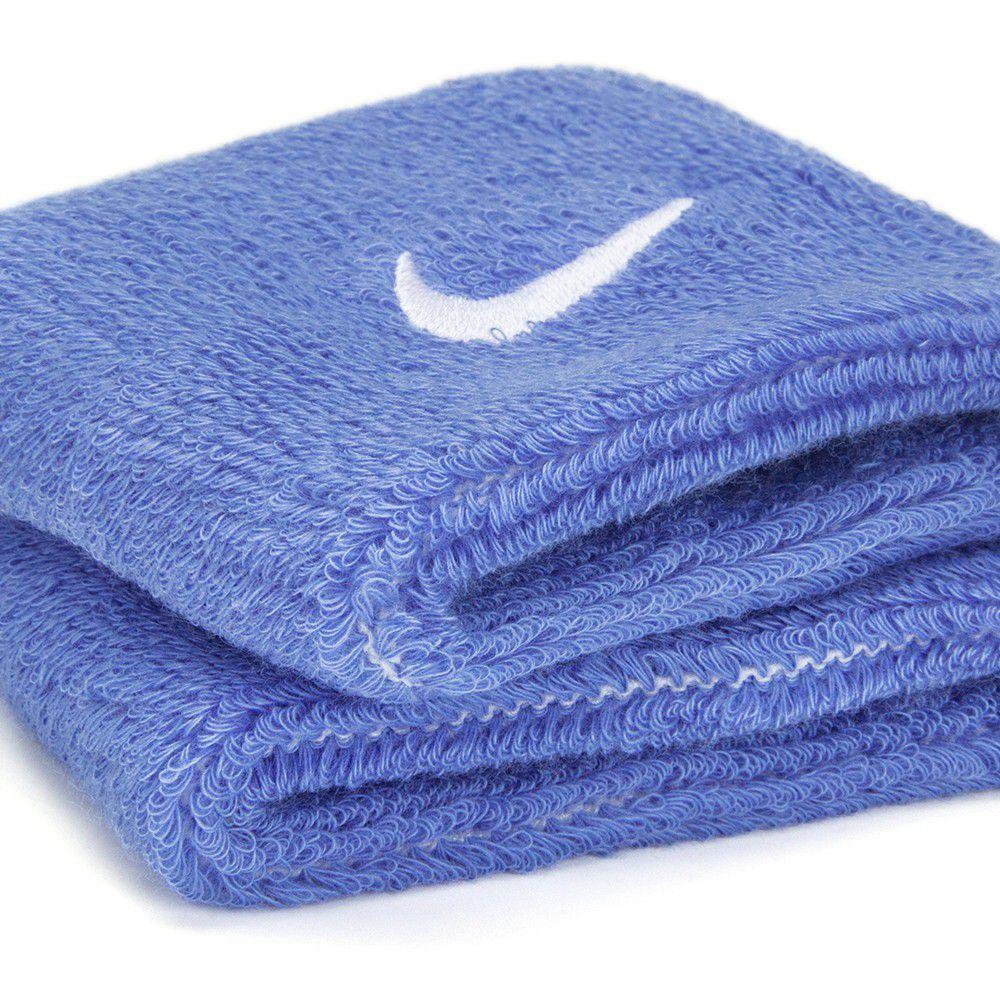 Munhequeira Nike Swoosh Wristibands Azul  - REAL ESPORTE
