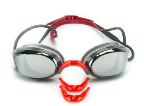 Óculos de Natacão Hammerhead Aquatech Mirror - Cinza/Vermelho  - REAL ESPORTE