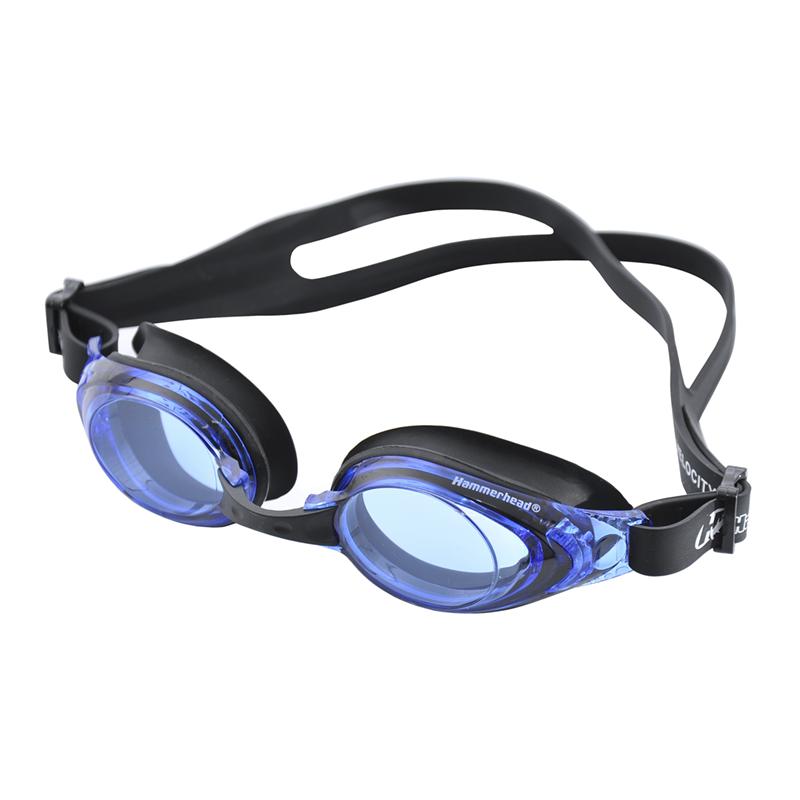 Óculos de Natacão Hammerhead Velocity 4.0 - Preto Lente Azul  - REAL ESPORTE