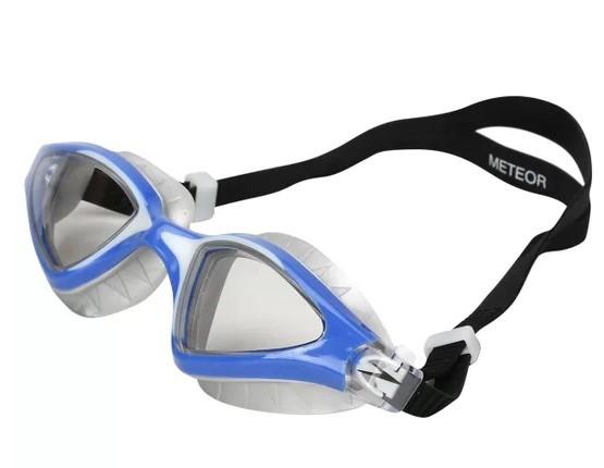 Oculos De Natação Speedo Meteor - Cinza/Azul  - REAL ESPORTE