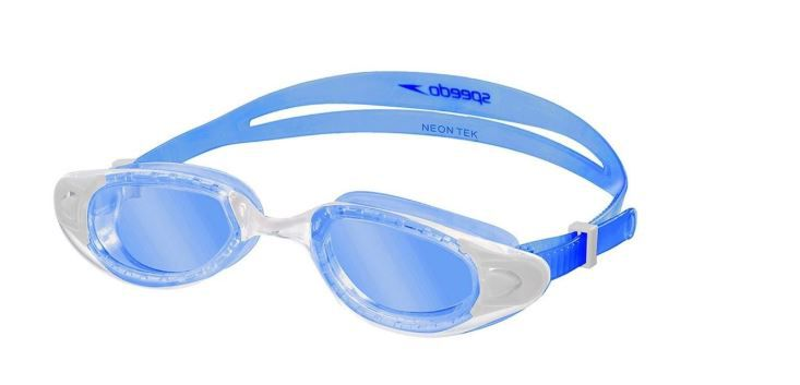 Óculos de Natacão Speedo Neon Tek + Mesh Bag  - Azul  - REAL ESPORTE