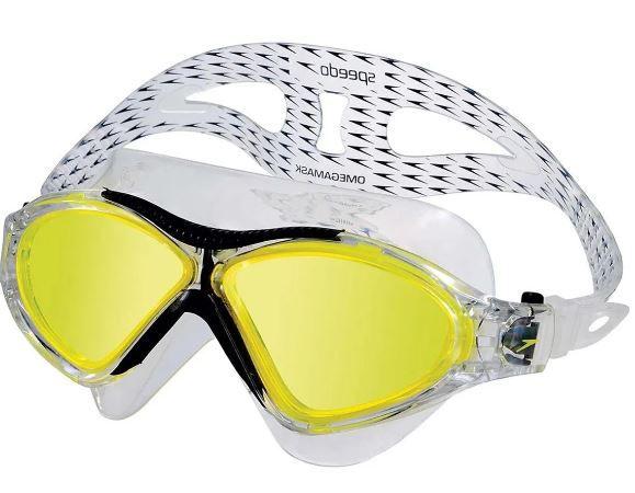 Óculos de Natacão Speedo Ômega - Amarelo/Preto  - REAL ESPORTE
