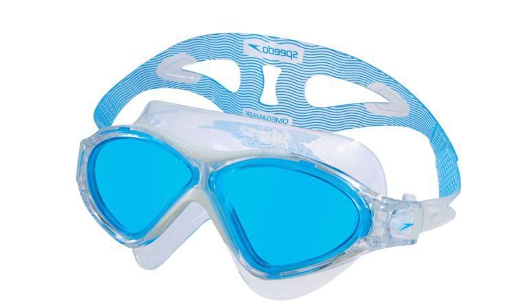 Óculos de Natacão Speedo Omega - Azul/Branco  - REAL ESPORTE