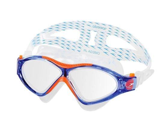 Óculos de Natacão Speedo Omega - Azul/ Laranja  - REAL ESPORTE
