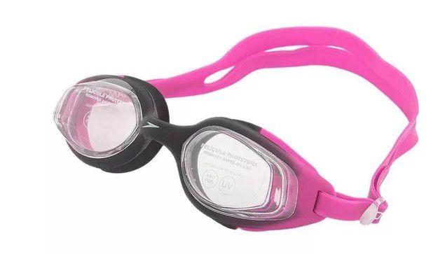 Óculos de Natacão Speedo Smart - Preto/Rosa  - REAL ESPORTE