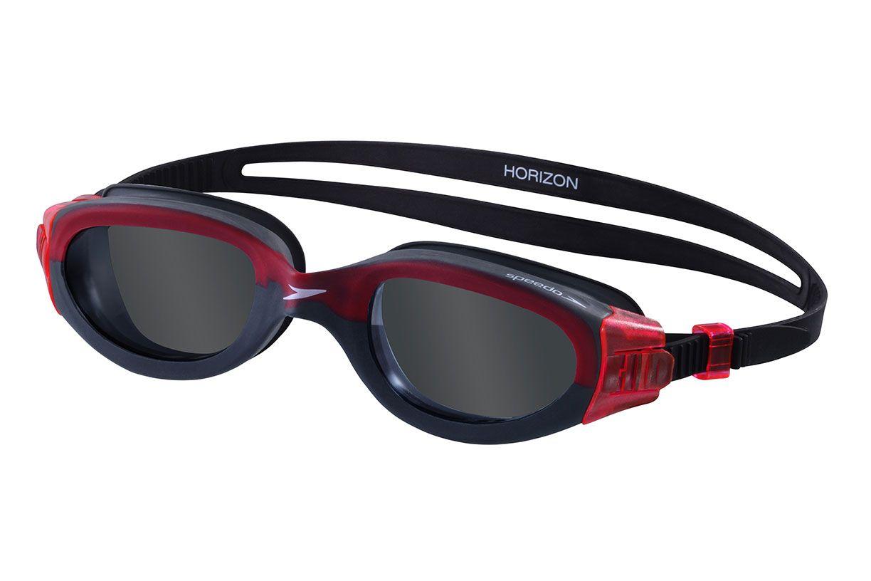 Óculos para Natacão Speedo Horizon Preto/Vermelho  - REAL ESPORTE