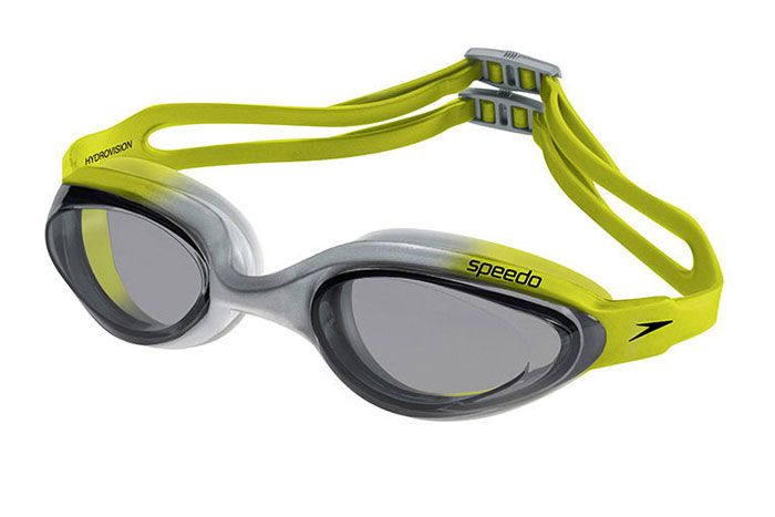Óculos de Natacão Speedo Hydrovision Cinza Amarelo  - REAL ESPORTE