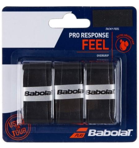 Overgrip Babolat Pro Response X3 - Preto  - REAL ESPORTE
