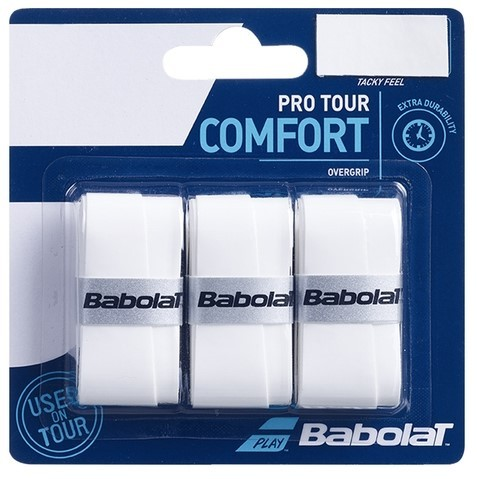 Overgrip Babolat Pro Tour Comfort X3 - Branco  - REAL ESPORTE