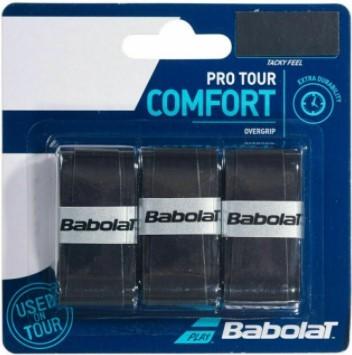 Overgrip Babolat Pro Tour Comfort X3 - Preto  - REAL ESPORTE