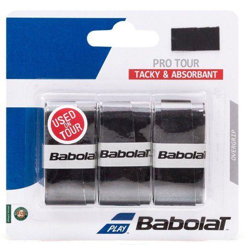 Overgrip Babolat Pro Tour X3 - Preto  - REAL ESPORTE