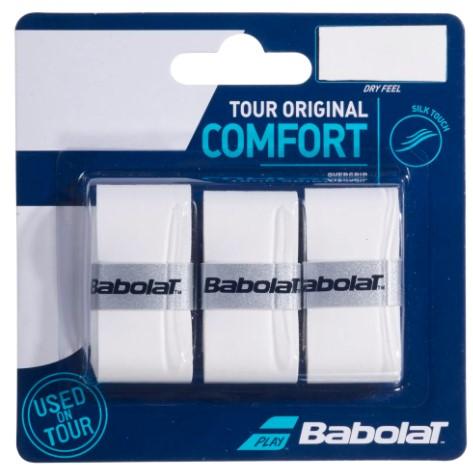 Overgrip Babolat Tour Original Comfort X3 - Branco  - REAL ESPORTE