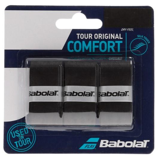 Overgrip Babolat Tour Original Comfort X3 - Preto  - REAL ESPORTE