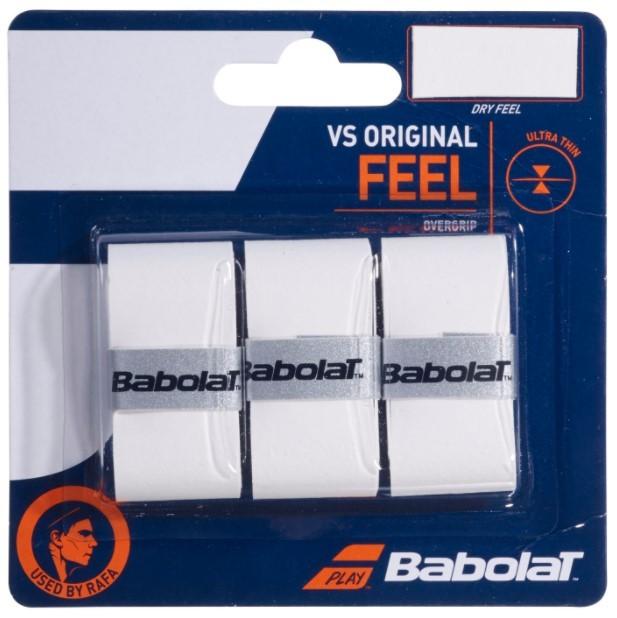 Overgrip Babolat VS Original Feel X3 - Branco  - REAL ESPORTE