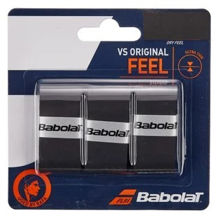 Overgrip Babolat VS Original Feel X3 - Preto  - REAL ESPORTE