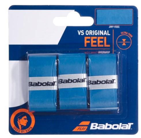 Overgrip Babolat VS Original  X3 - Azul  - REAL ESPORTE