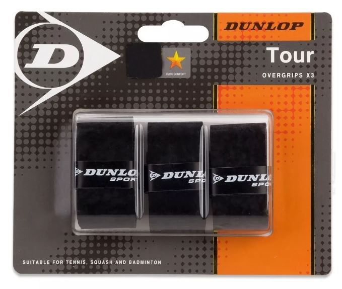 Overgrip Dunlop Bio Tuor - Preto  - REAL ESPORTE