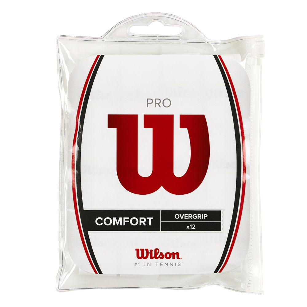Overgrip Wilson Pro Comfort x12 - Branco  - REAL ESPORTE