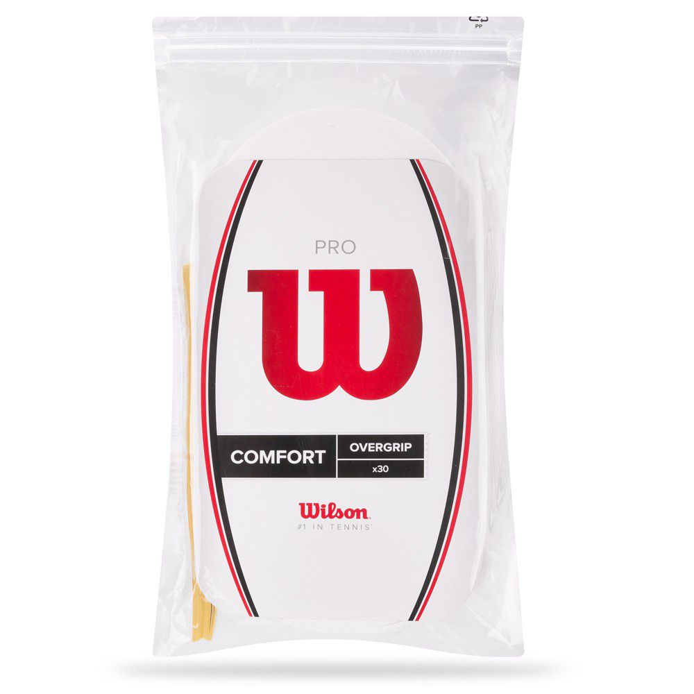 Overgrip Wilson Pro Confort - Branco c/ 30 unidades  - REAL ESPORTE