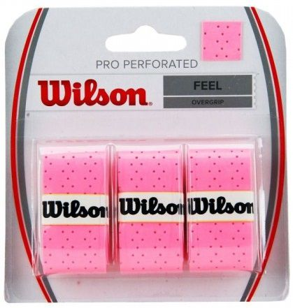 Overgrip Wilson Pro Perforated - Rosa  - REAL ESPORTE