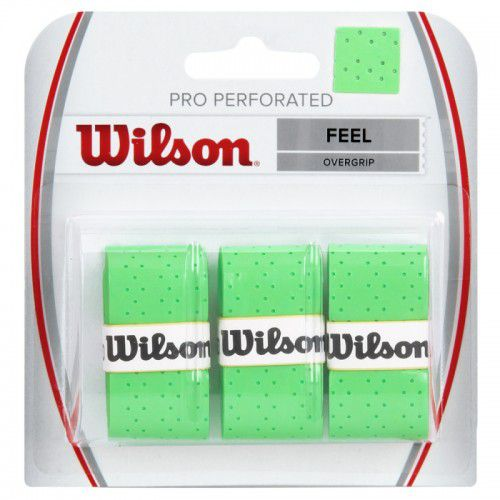 Overgrip Wilson Pro Perforated - Verde  - REAL ESPORTE