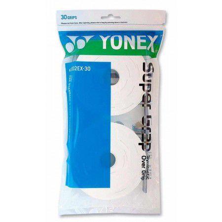 Overgrip Yonex Super Grap c/ 30 unidades - Branco  - REAL ESPORTE