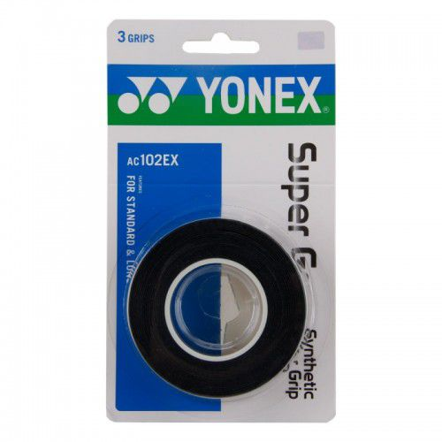 Overgrip Yonex Super Grap c/ 3 unidades Preto  - REAL ESPORTE