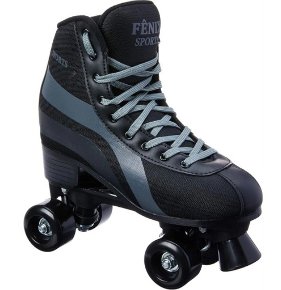 Patins Roller Skate Fenix  Preto  - REAL ESPORTE