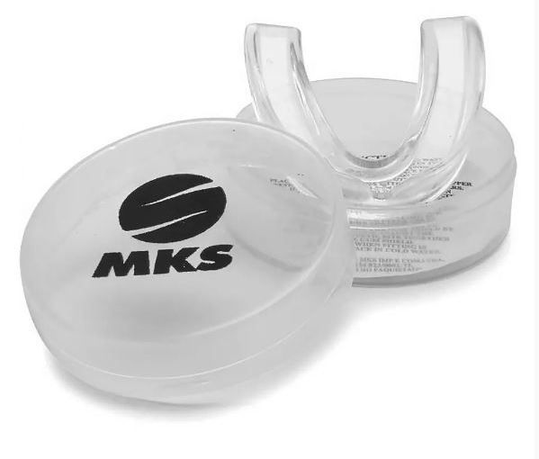 Protetor Bucal Simples Moldável MKS  - Transparente C/Estojo  - REAL ESPORTE