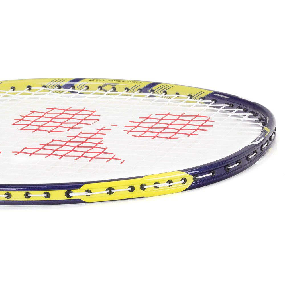 Raquete de Badminton Yonex Duora 88 Azul e Amarelo Limão   - REAL ESPORTE