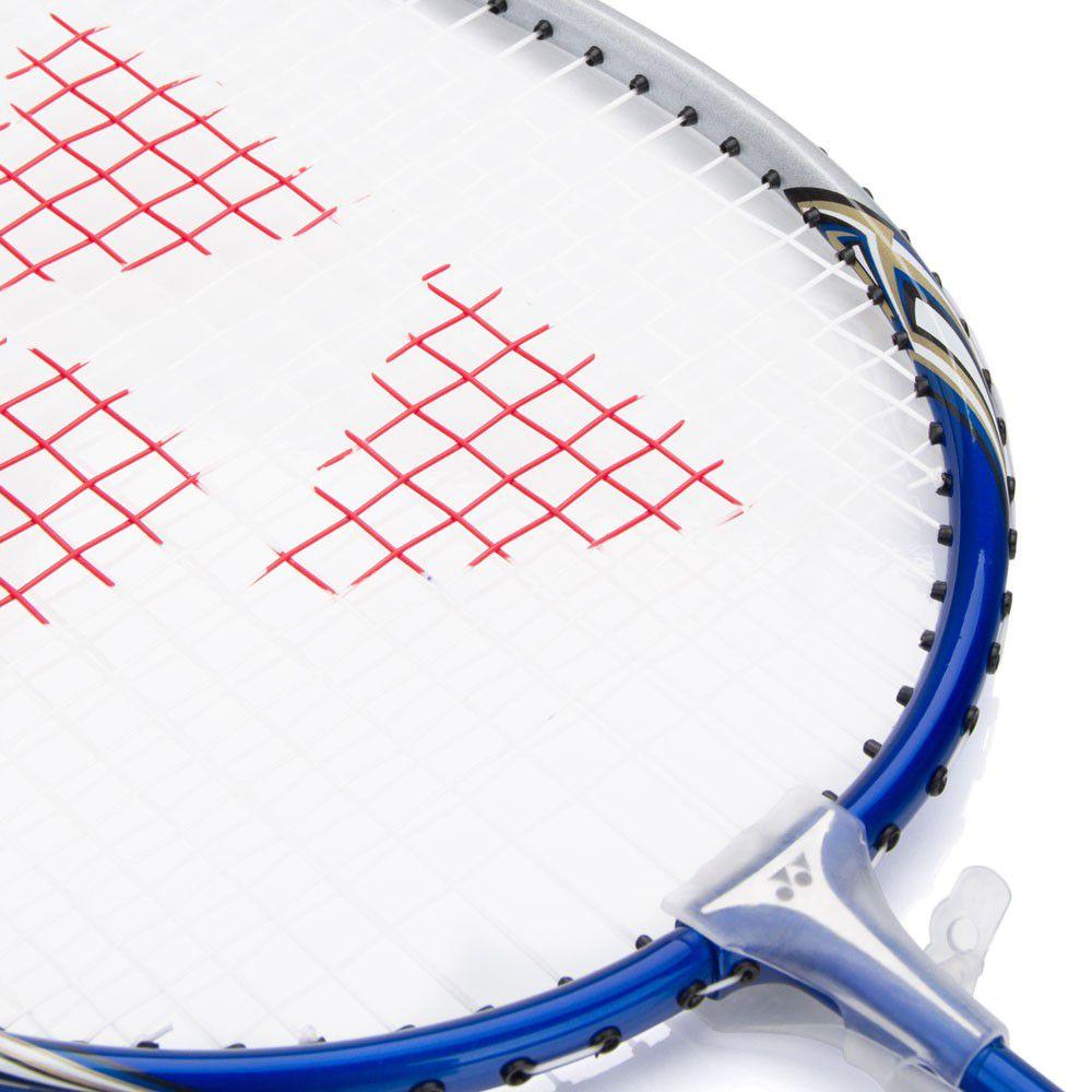 Raquete de Badminton Yonex Muscle Power 2 Branca e Azul   - REAL ESPORTE