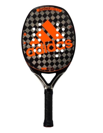 Raquete de Beach Tennis Adidas Adipower CTRL 2.0 - Preto/Laranja + Brinde 3 Bolas  - REAL ESPORTE