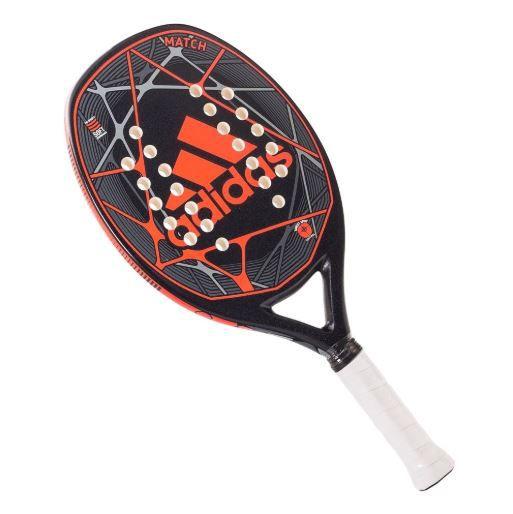 Raquete de Beach Tennis Adidas Match Preta e Branca  - REAL ESPORTE