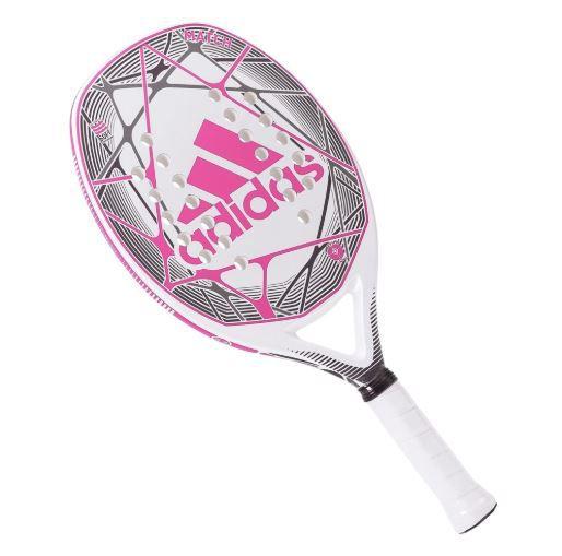 Raquete de Beach Tennis Adidas Match Rosa e Branca  - REAL ESPORTE
