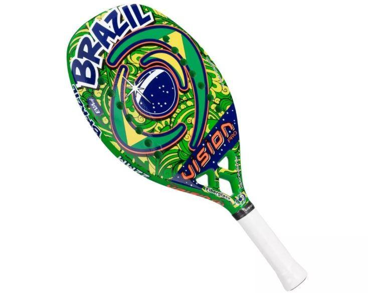Raquete de Beach Tennis Vision Brasil  - REAL ESPORTE