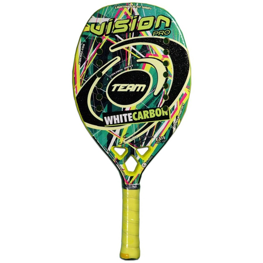 Raquete de Beach Tennis Vision White Carbon Team  - REAL ESPORTE