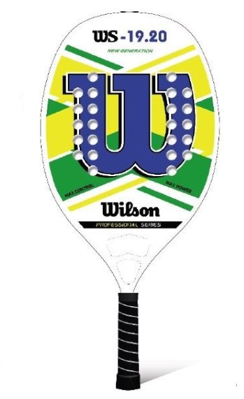 Raquete de Beach tennis Wilson 19.20  - REAL ESPORTE