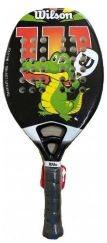 Raquete de Beach Tennis Wilson Jr Crocs - Preto/Branco  - REAL ESPORTE
