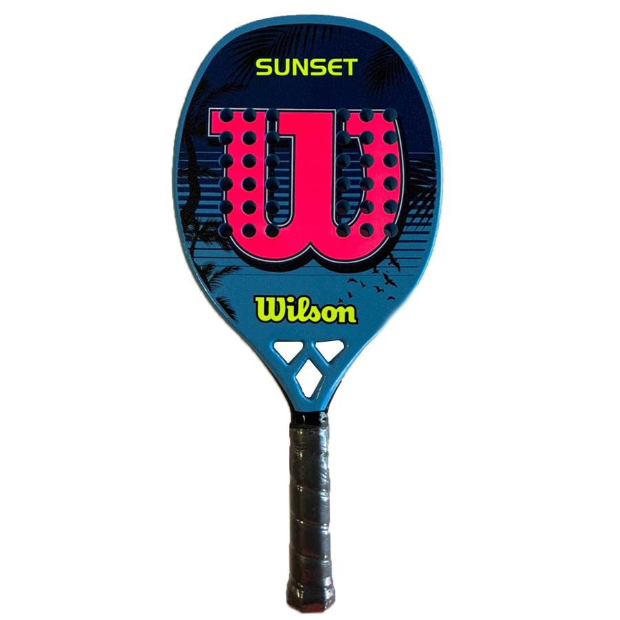 Raquete de Beach Tennis Wilson Sunset - Azul/Rosa  - REAL ESPORTE