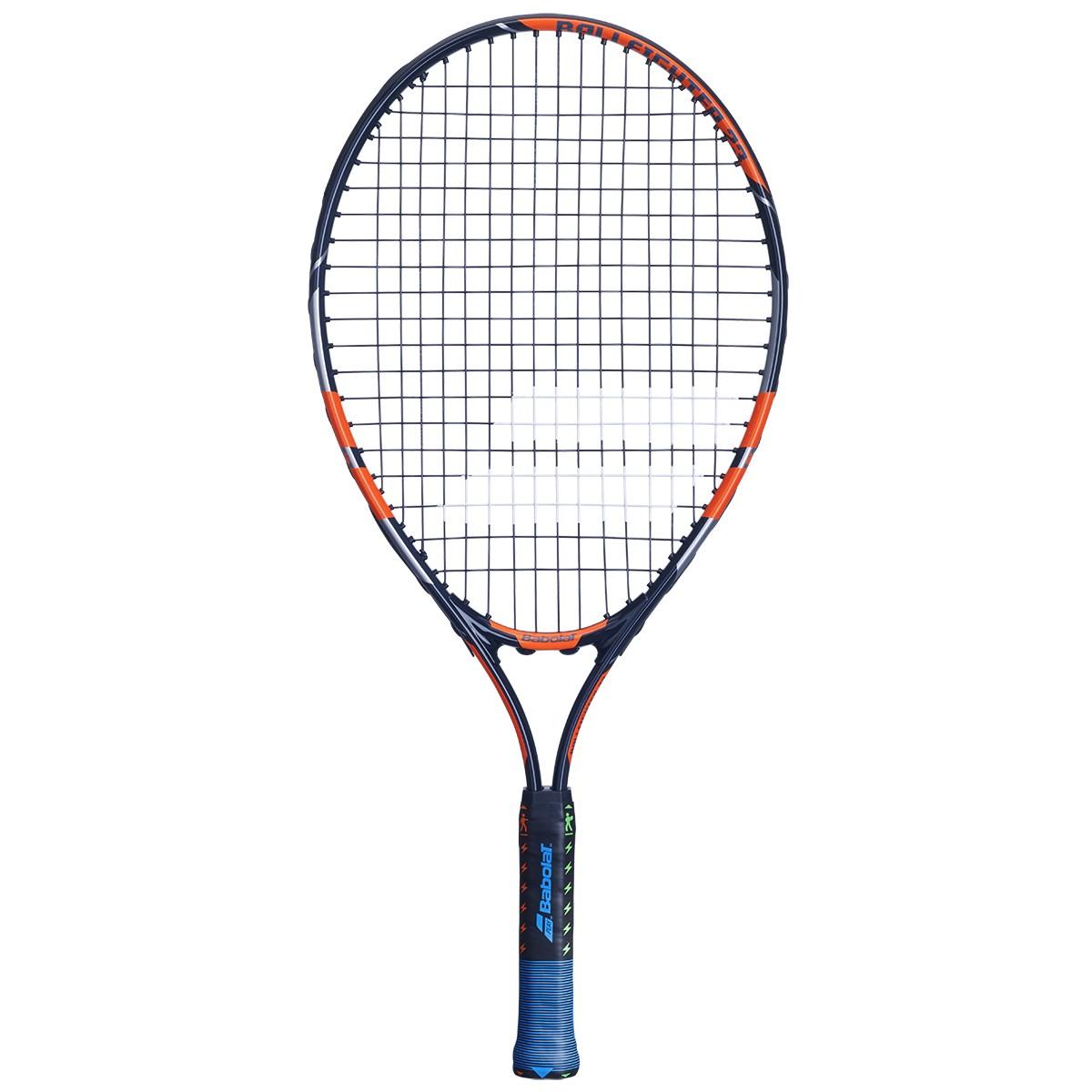 Raquete de Tenis Babolat Ballfighter 23 Preto/Laranja - Encordoada  - REAL ESPORTE