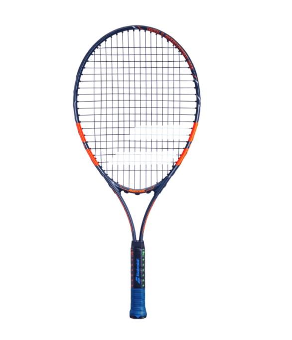 Raquete de Tenis Babolat Ballfighter 25 Preto/Laranja - Encordoada  - REAL ESPORTE