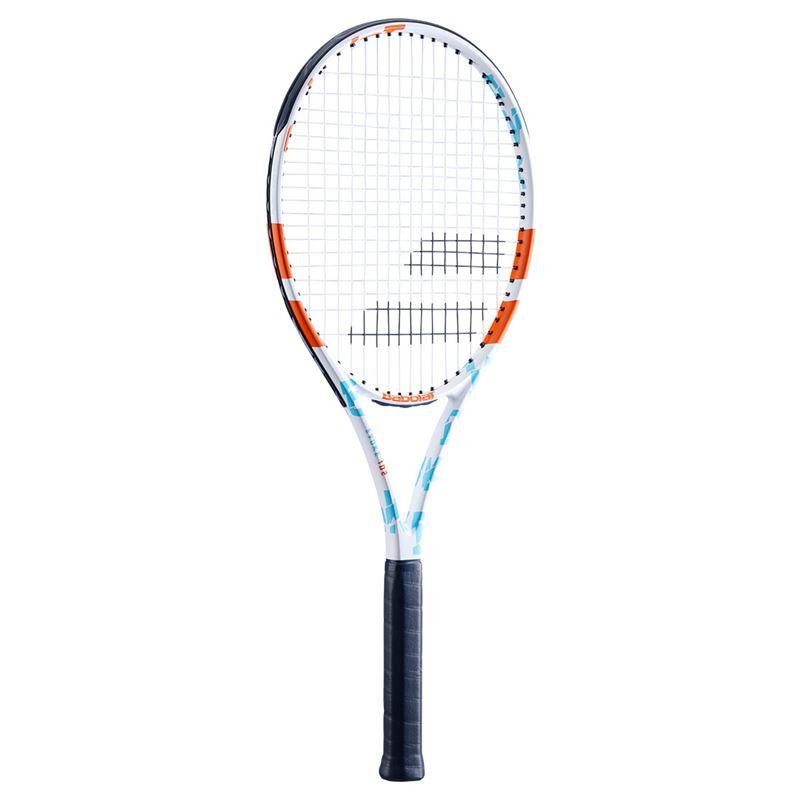 Raquete de Tênis Babolat Evoke 102 Branca/Azul/Laranja - Encordoada  - REAL ESPORTE