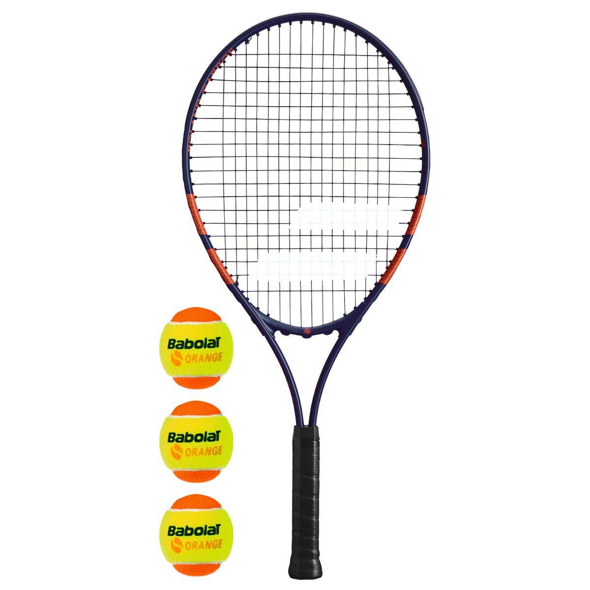 Raquete de Tênis  Babolat  Junior 25 RG + Kit bola  - REAL ESPORTE